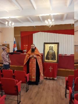 В ИК-2 доставлена икона Преподобного Серафима Саровского